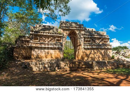 Ancient Arch At Labna Mayan Ruins, Yucatan, Mexico