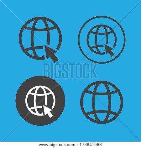 Go to web icons set vector illustration. Go to web black logo. Go to web icons sign eps10