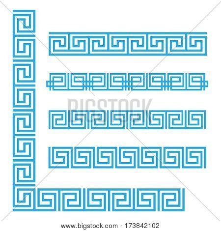 Vector Greek ornament. Greek ornament flat style