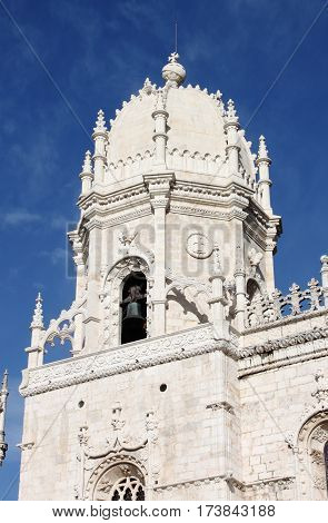 Dome of the Jeronimos Monastery in Lisbon, Portugal