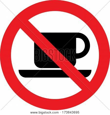 No coffee allowed sign on white background