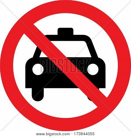 No taxi allowed sign on a white background