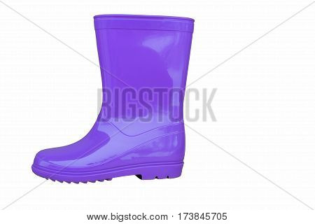 new blue rubber boot on a white background side view