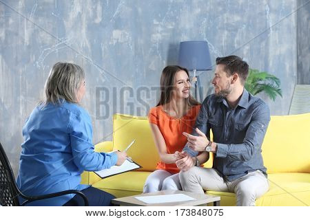 People talking at home