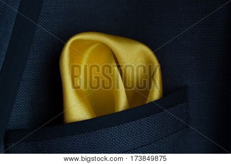 Yellow Handkerchief In Jacket A Pocket