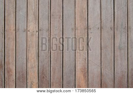 Brown wood slat wall fasten with nail for background and texture