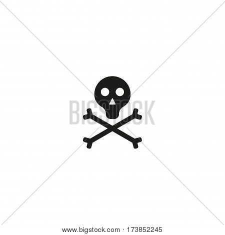 Toxic product symbol isolated on white background vector illustration. Poison hazard pictogram. Skull with crossbones black packaging pictogram