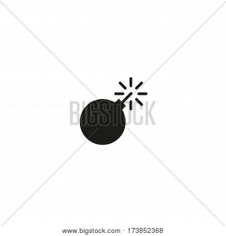 Risk of explosion symbol isolated on white background vector illustration. Warning explosive, hazard packaging sign. International standard black packaging pictogram