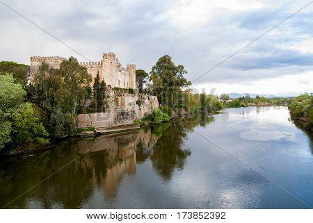 Castle of Malpica de Tajo (Toledo, Spain), on the banks of the Tajo River