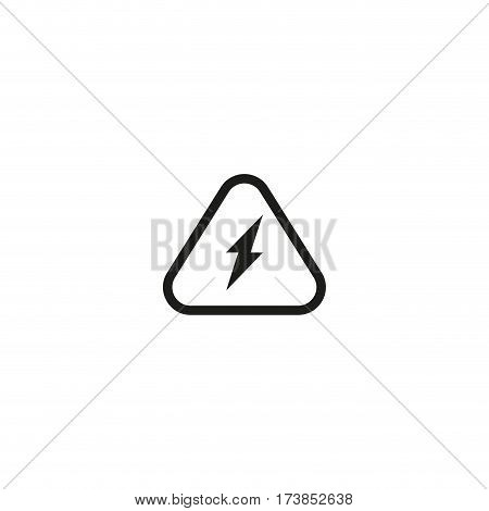 Attention electricity symbol isolated on white background vector illustration. High voltage, electric hazard lightning triangle sign. International standard black packaging pictogram