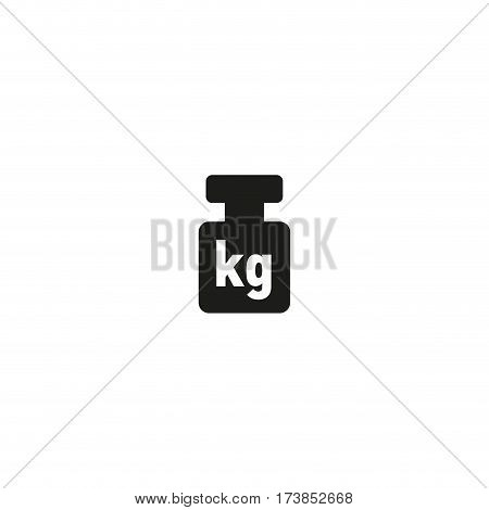 Package weight symbol isolated on white background vector illustration. Net weight cargo sign. International standard black packaging pictogram