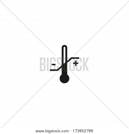Temperature limitation symbol isolated on white background vector illustration. Permitted temperature range for cargo sign. International standard black shipping pictogram