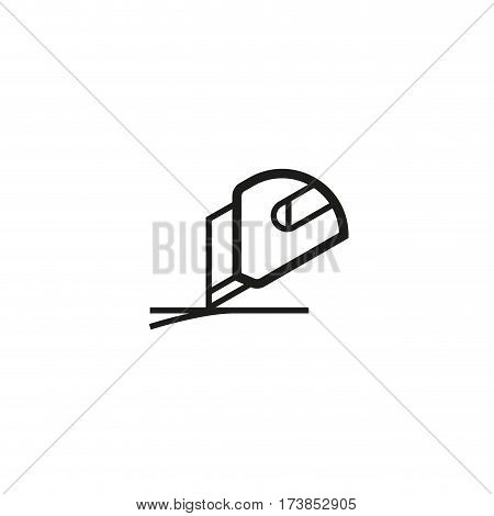 Use box cutter symbol isolated on white background vector illustration. Safe handling, use blades to open delivery cargo label. International standard black shipping pictogram
