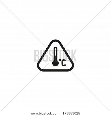 Attention temperature regime symbol isolated on white background vector illustration. Permitted temperature range for cargo sign. International standard black shipping pictogram