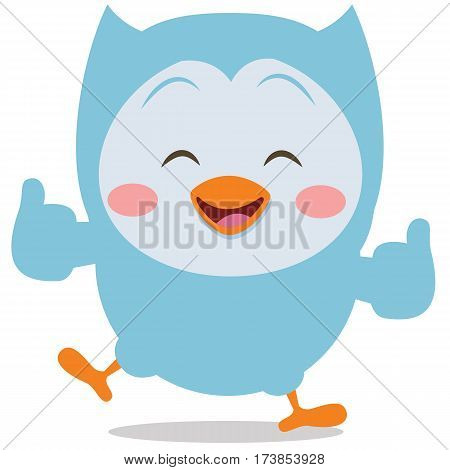 Happy owl mascot vector art collection stock