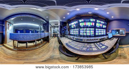 3d panorama inside ob van broadcast videographer compartment 360 panorama obvan compartment videostudio video air video director panorama 3d obvan panorama video director module inside ob vans