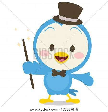 Character of magician dove vector collection stock
