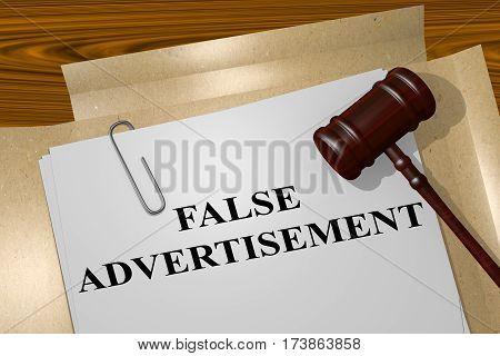 False Advertisement Concept