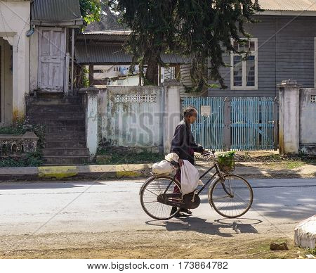 Street In Pyin Oo Lwin, Myanmar