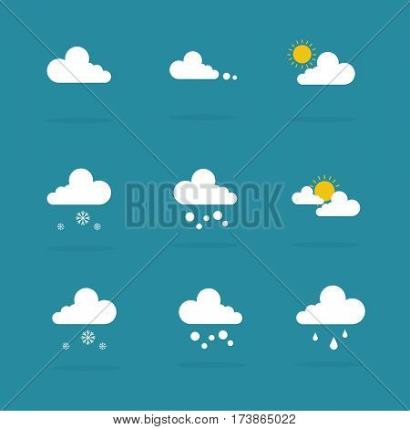 Weather set icon vector illustration collection stock