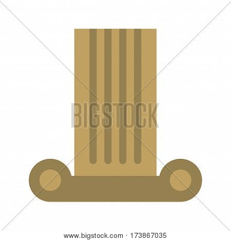 Pillar, museum, column icon vector image. Can also be used for museum. Suitable for mobile apps, web apps and print media.
