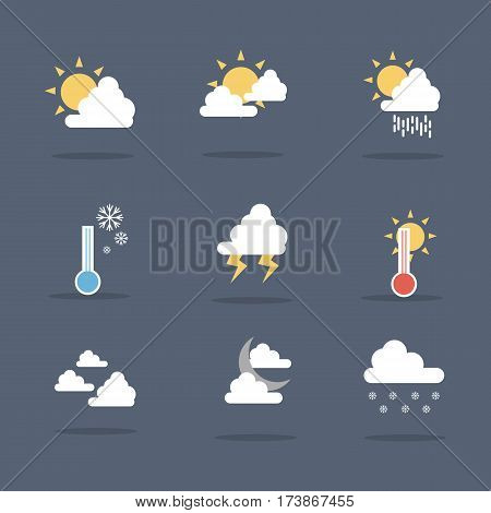 illustration vector of weather set collection stock