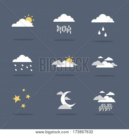 Illustration vector of weather icon set collection stock