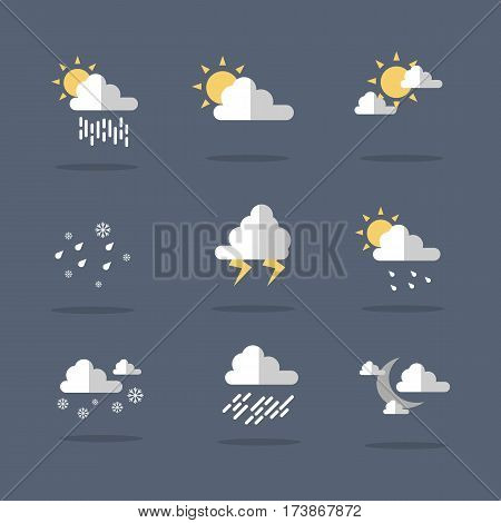 Weather icon set illustration vector collection stock
