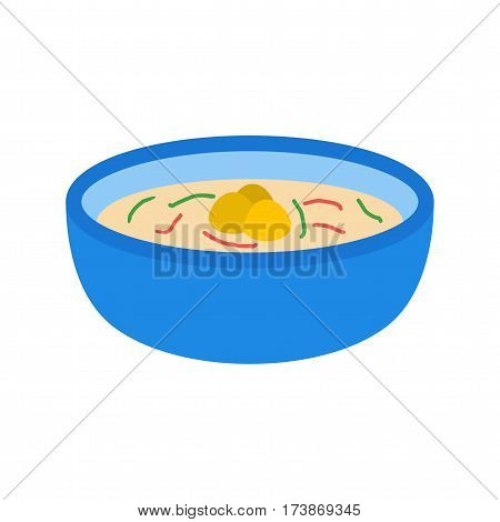 Soup, dumplings, food icon vector image. Can also be used for european cuisine. Suitable for mobile apps, web apps and print media.