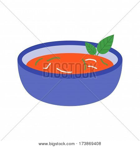 Gazpacho, food, bowl icon vector image. Can also be used for european cuisine. Suitable for mobile apps, web apps and print media.