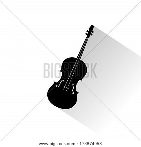 Vector icon cello with star on white background
