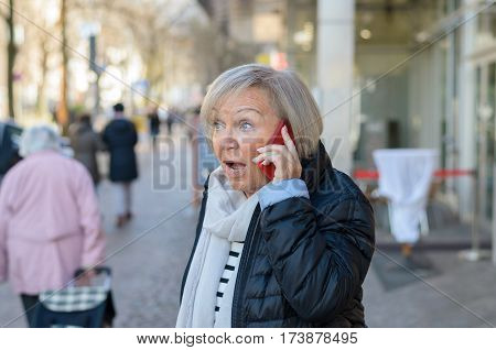 Woman Shocked Talking By The Phone