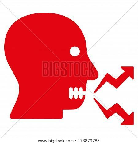 Angry Person Shout vector icon. Flat red symbol. Pictogram is isolated on a white background. Designed for web and software interfaces.