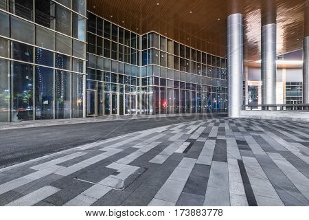 entrance of modern office building or hotel,china.