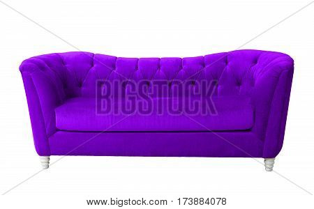 A purple furniture isolated on white with clipping path