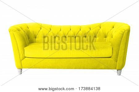 A yellow furniture isolated on white with clipping path