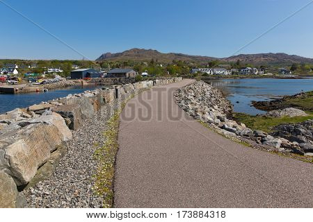 Scottish coast village of Arisaig Scotland uk south of Mallaig in Scottish Highlands