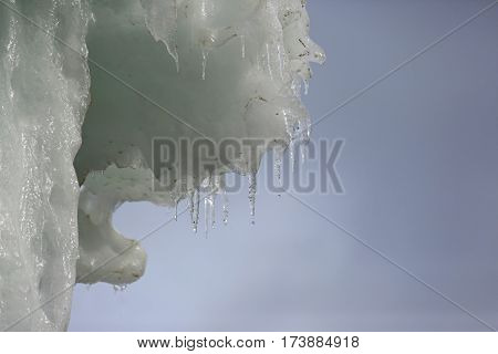 the a melting winter the ice block