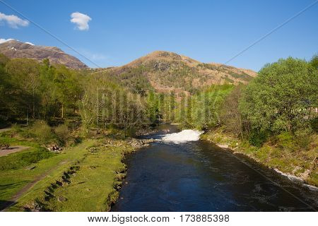 River Leven Kinlochmore near Kinlochleven Scotland UK in summer