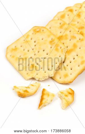 Crisp Cookies Isolated Over White Background