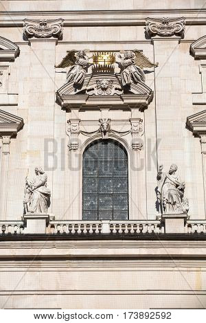 Famous Salzburg Cathedral (Salzburger Dom) at Domplatz Salzburg Land Austria