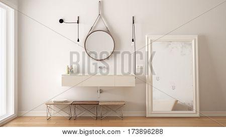 Classic Bathroom, Modern Minimalistic Interior Design