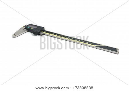 Digital Electronic Vernier Caliper isolated on white background