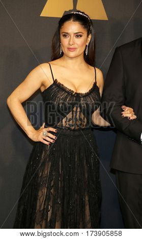 Salma Hayek at the 89th Annual Academy Awards - Press Room held at the Hollywood and Highland Center in Hollywood, USA on February 26, 2017.