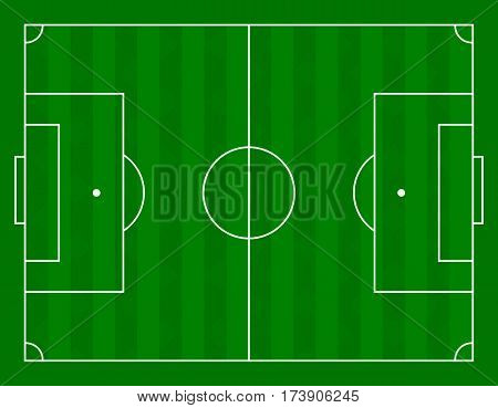 Vector illustration of a football field. Stock vector