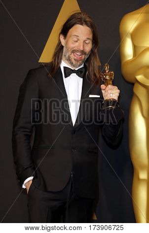 Linus Sandgren at the 89th Annual Academy Awards - Press Room held at the Hollywood and Highland Center in Hollywood, USA on February 26, 2017.