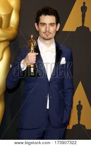 Damien Chazelle at the 89th Annual Academy Awards - Press Room held at the Hollywood and Highland Center in Hollywood, USA on February 26, 2017.