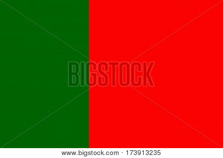 Portugal National Flag In Green and Red Colors