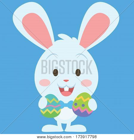 Easter bunny with egg vector art collection stock
