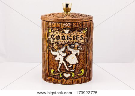 a cookie jar we received as a wedding present